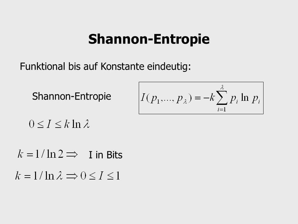Shannon-Entropie Funktional bis auf Konstante eindeutig: