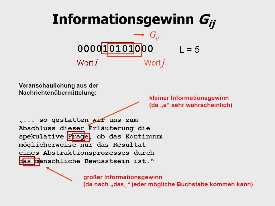 Informationsgewinn Gij