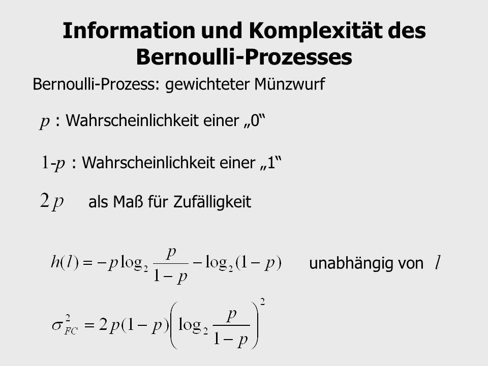 Information und Komplexität des Bernoulli-Prozesses