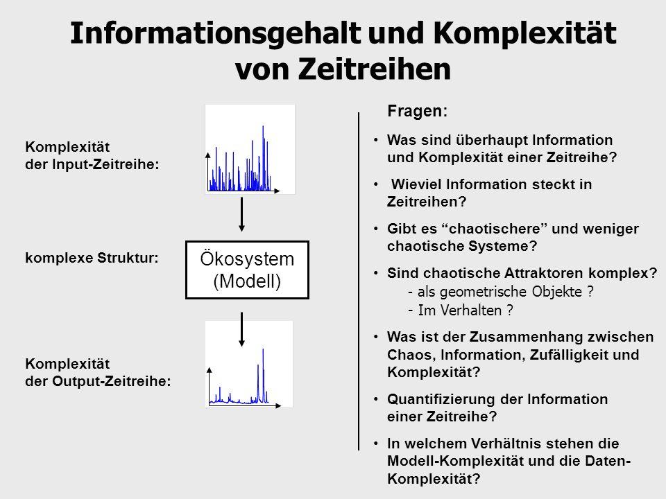 Informationsgehalt und Komplexität von Zeitreihen