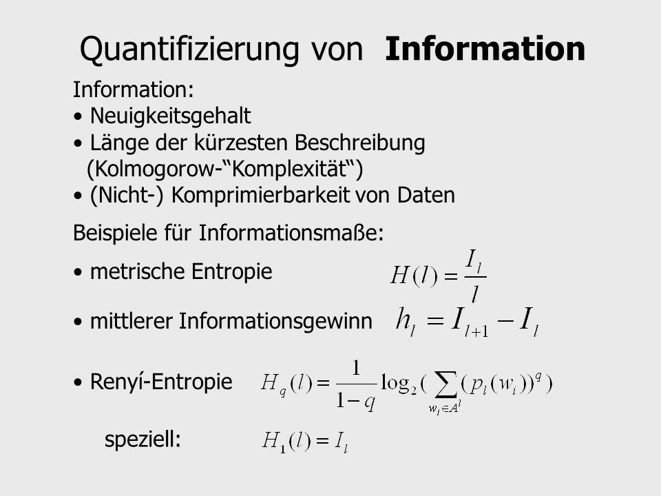 Quantifizierung von Information