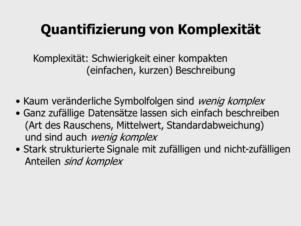 Quantifizierung von Komplexität