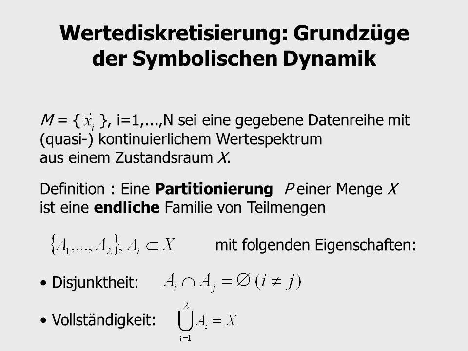 Wertediskretisierung: Grundzüge der Symbolischen Dynamik