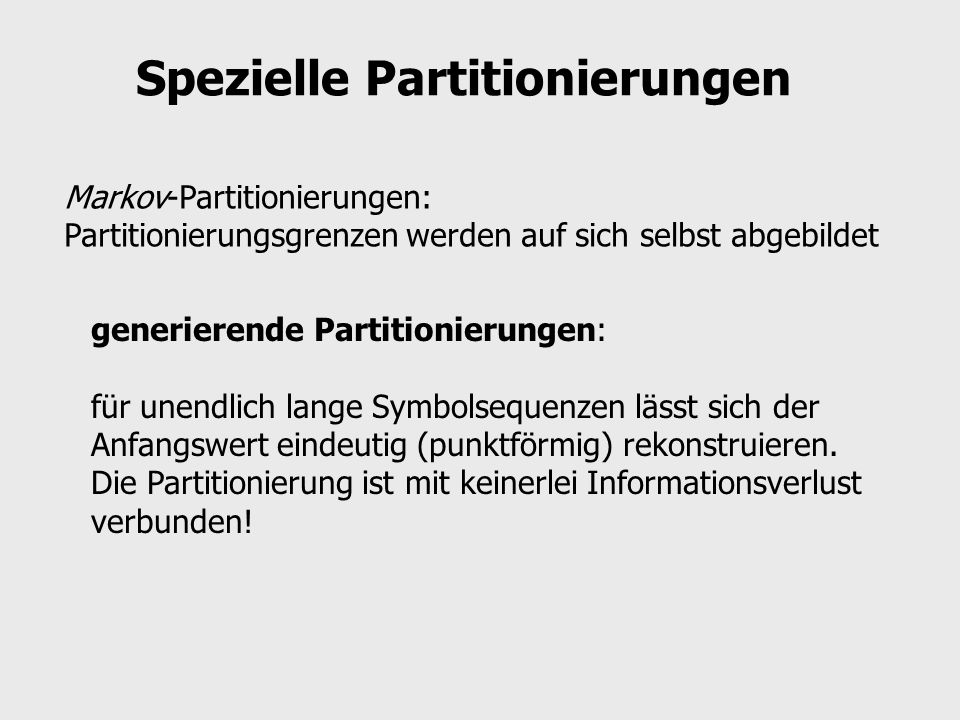 Spezielle Partitionierungen