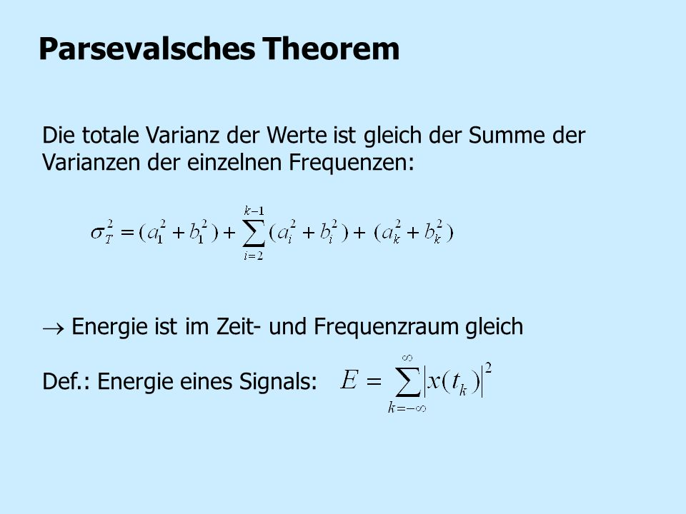 Parsevalsches Theorem
