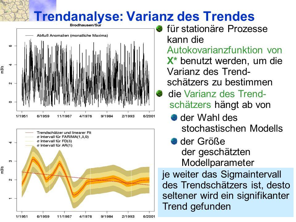 Trendanalyse: Varianz des Trendes