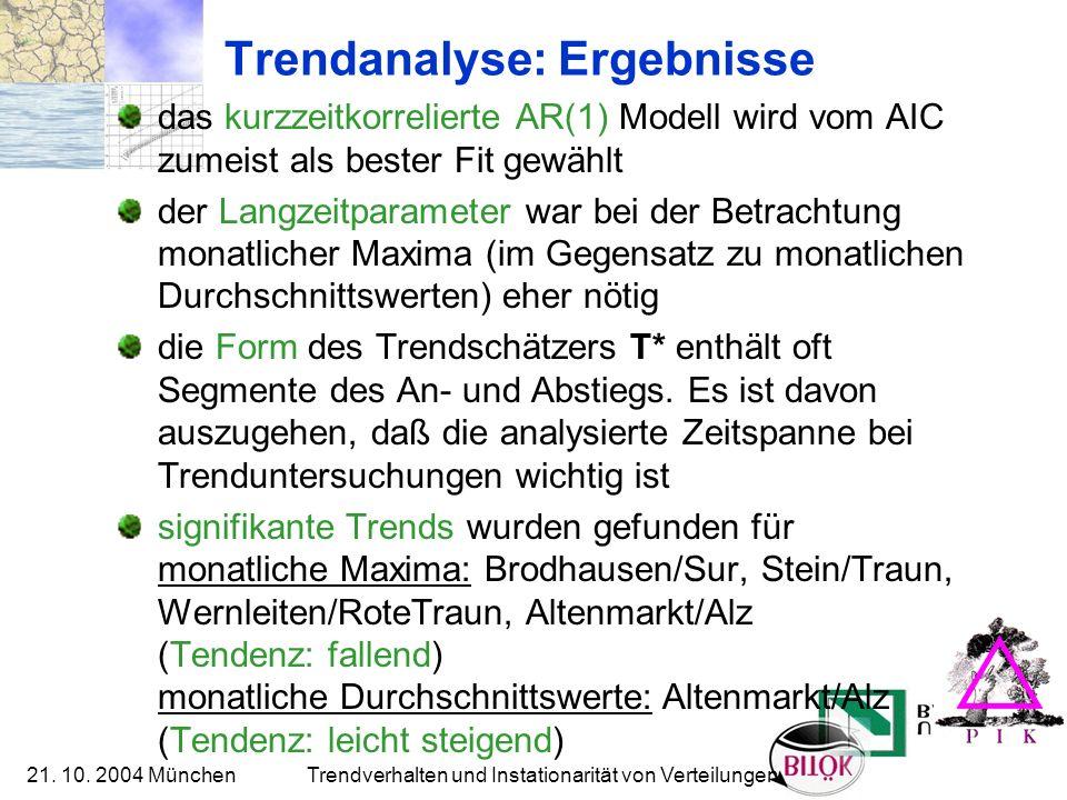 Trendanalyse: Ergebnisse