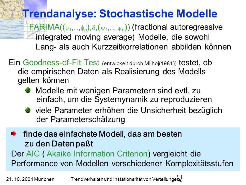 Trendanalyse: Stochastische Modelle