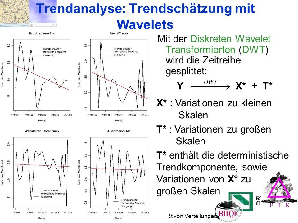 Trendanalyse: Trendschätzung mit Wavelets