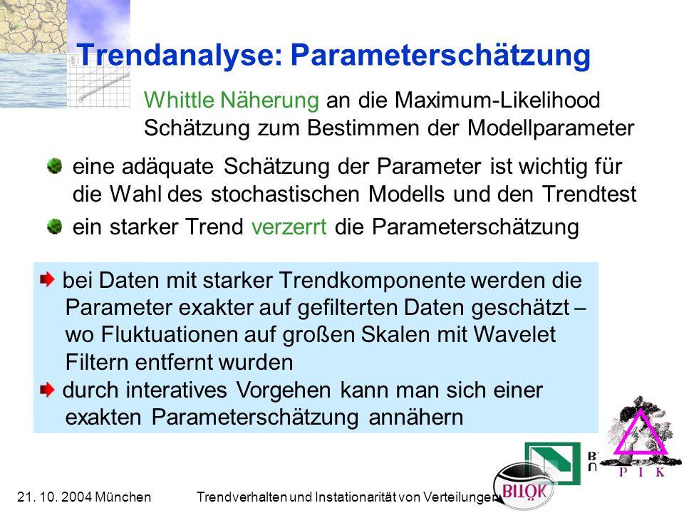 Trendanalyse: Parameterschätzung