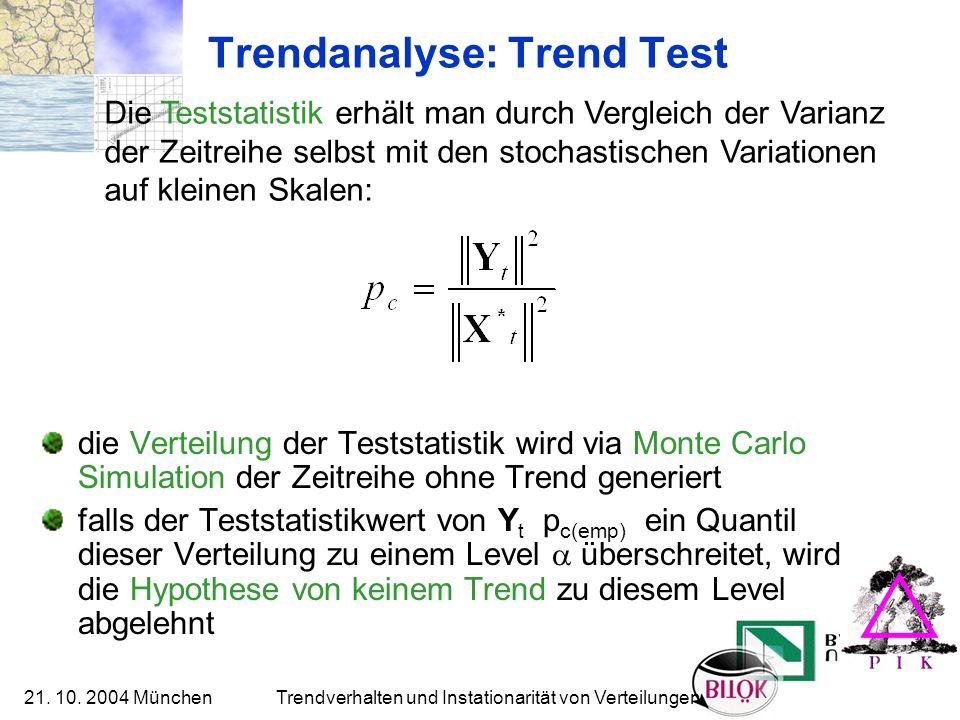 Trendanalyse: Trend Test