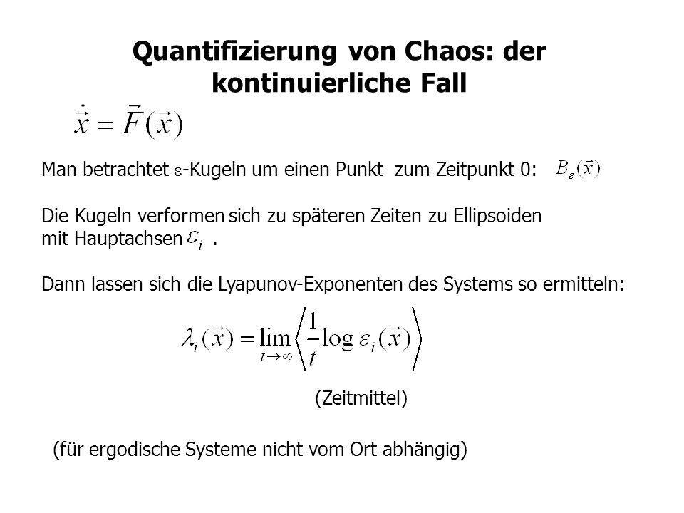 Quantifizierung von Chaos: der kontinuierliche Fall
