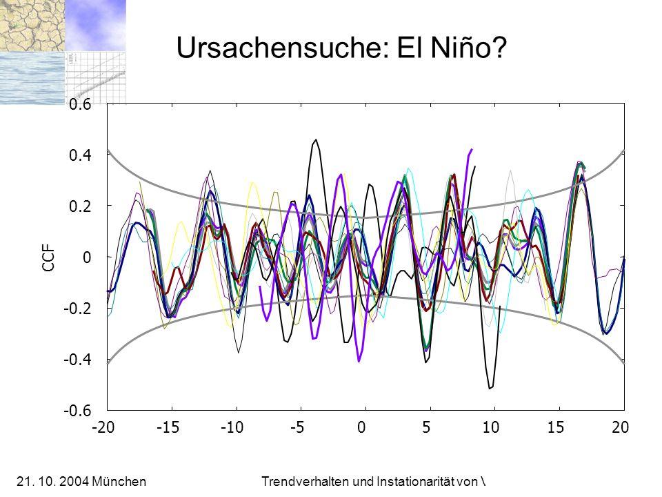 Ursachensuche: El Niño
