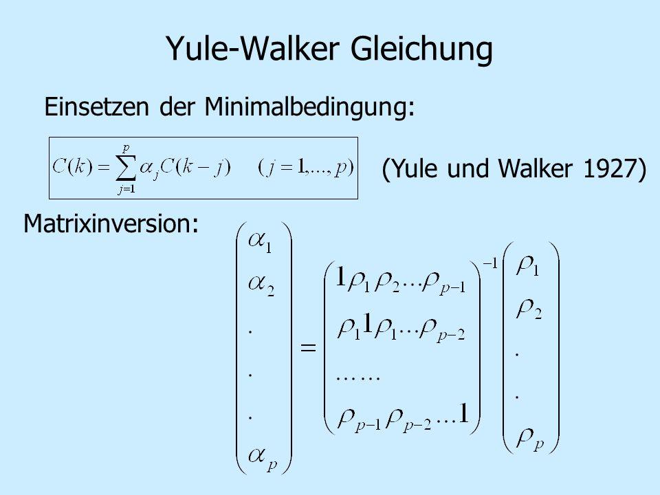 Yule-Walker Gleichung