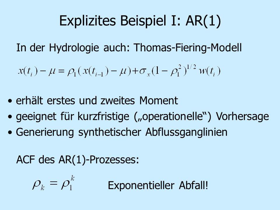 Explizites Beispiel I: AR(1)