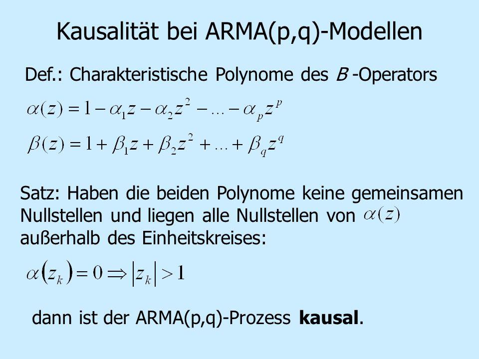 Kausalität bei ARMA(p,q)-Modellen