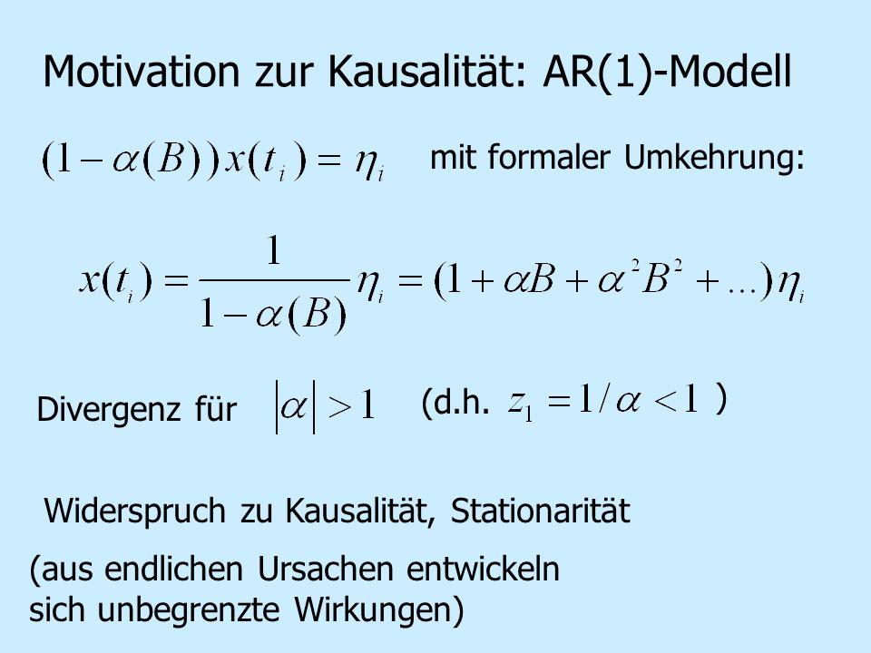 Motivation zur Kausalität: AR(1)-Modell