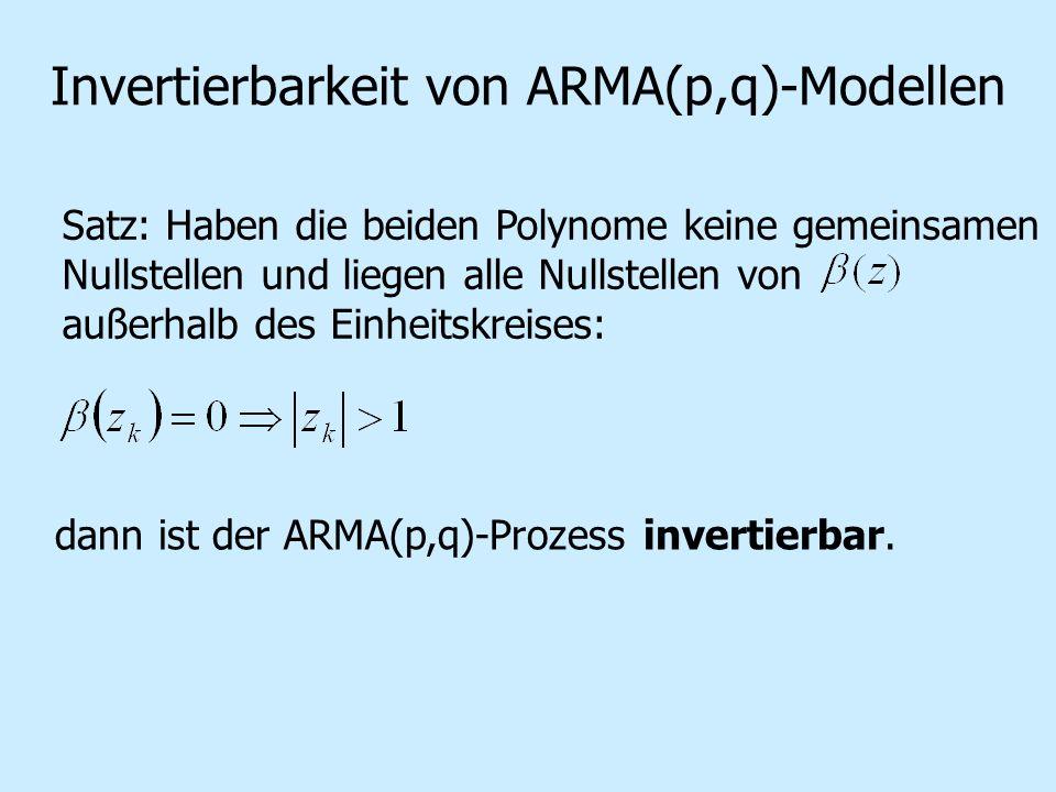 Invertierbarkeit von ARMA(p,q)-Modellen