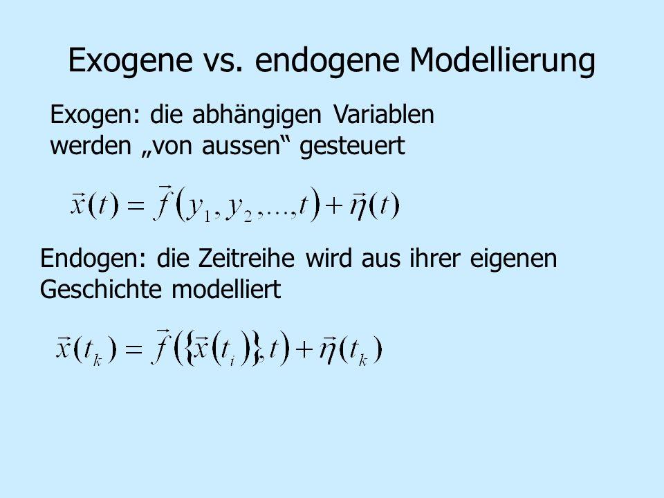 Exogene vs. endogene Modellierung
