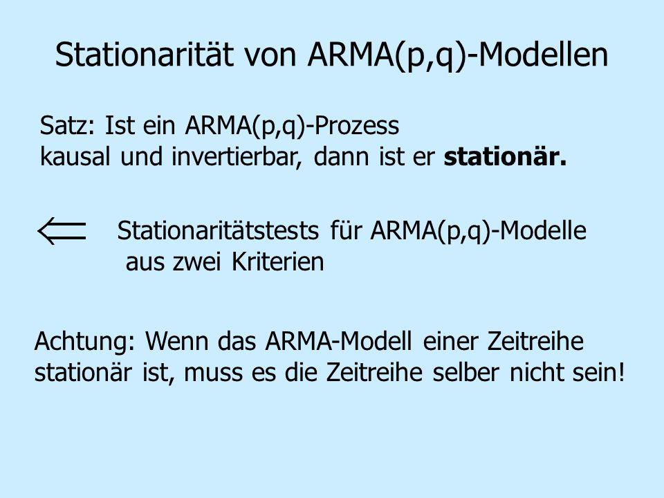 Stationarität von ARMA(p,q)-Modellen