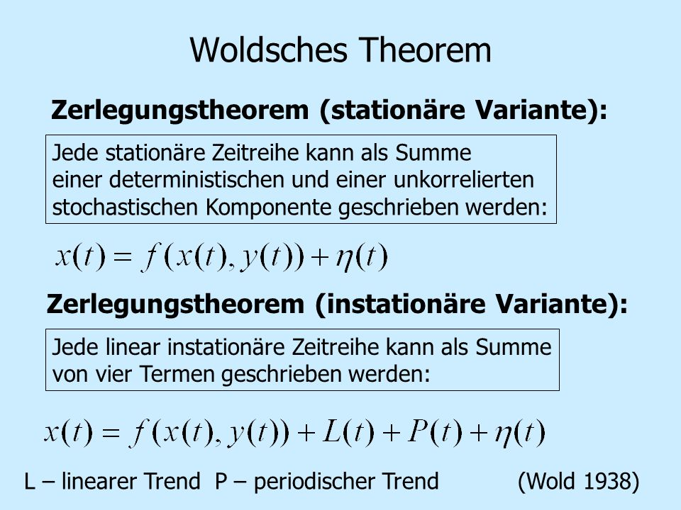 Woldsches Theorem Zerlegungstheorem (stationäre Variante):