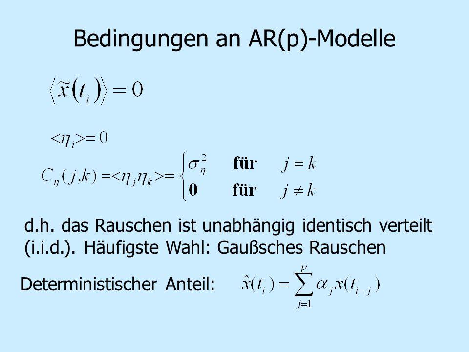 Bedingungen an AR(p)-Modelle