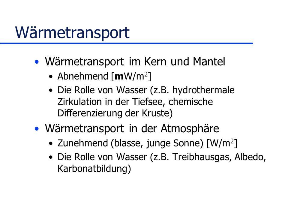 Wärmetransport Wärmetransport im Kern und Mantel
