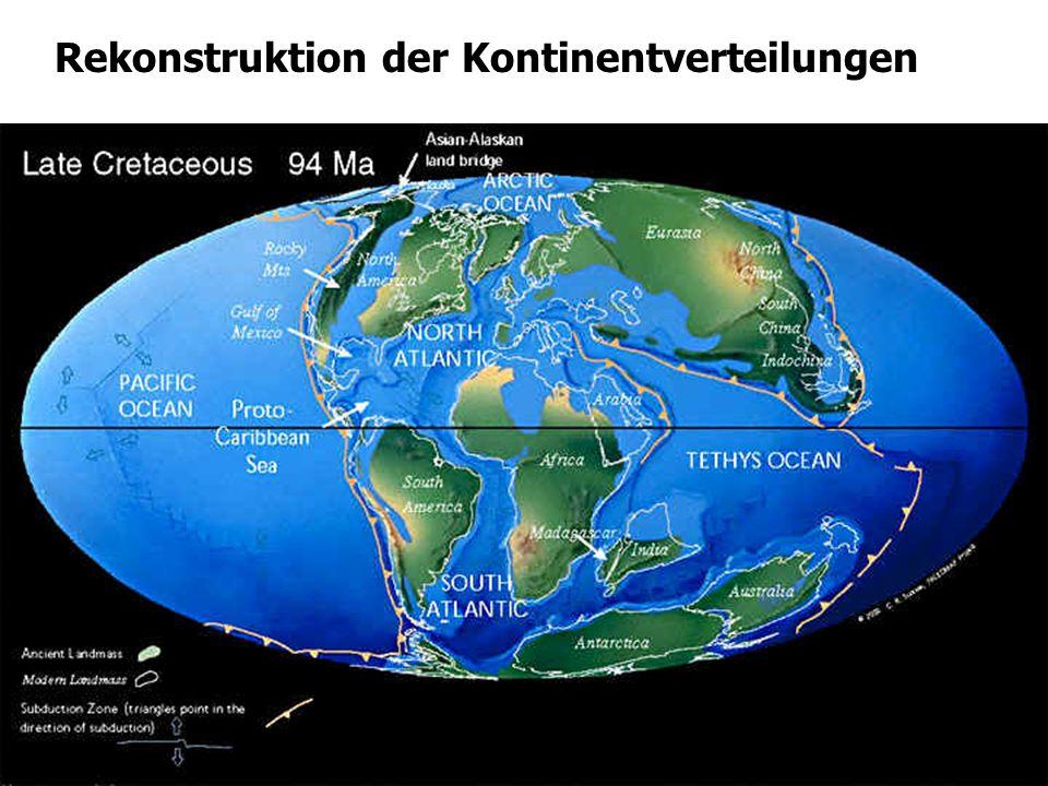 Rekonstruktion der Kontinentverteilungen