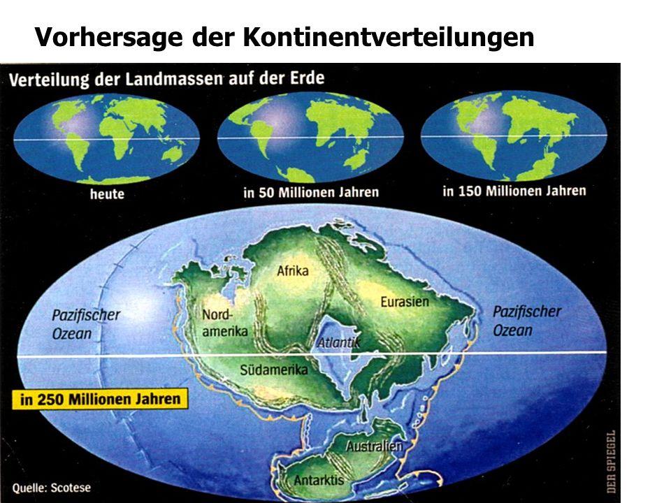 Vorhersage der Kontinentverteilungen