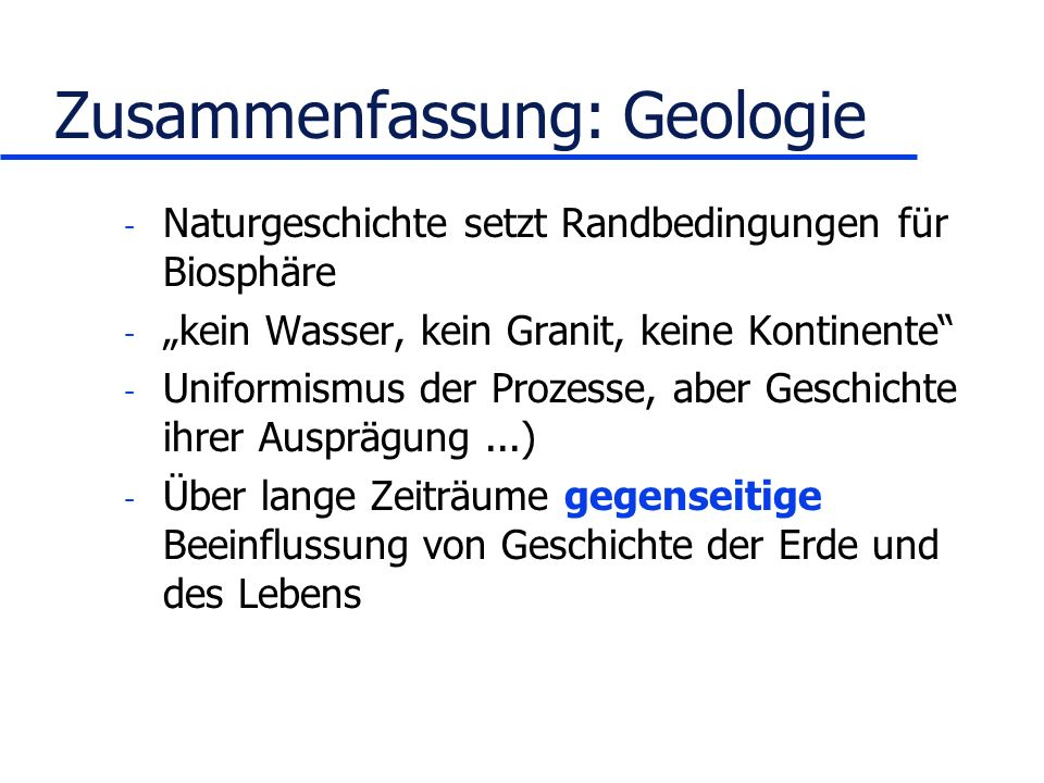 Zusammenfassung: Geologie