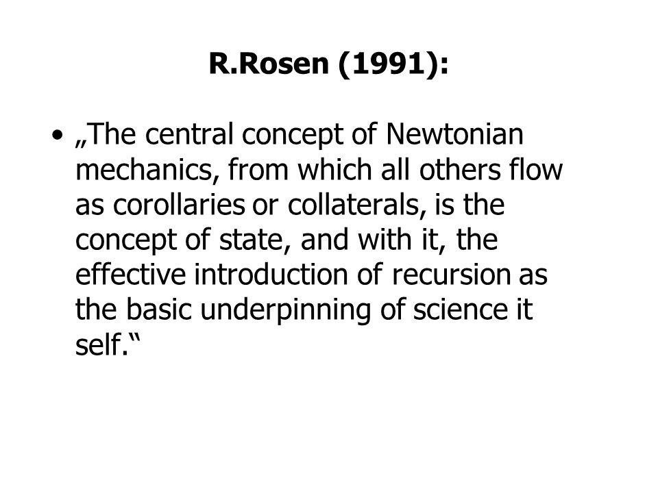R.Rosen (1991):