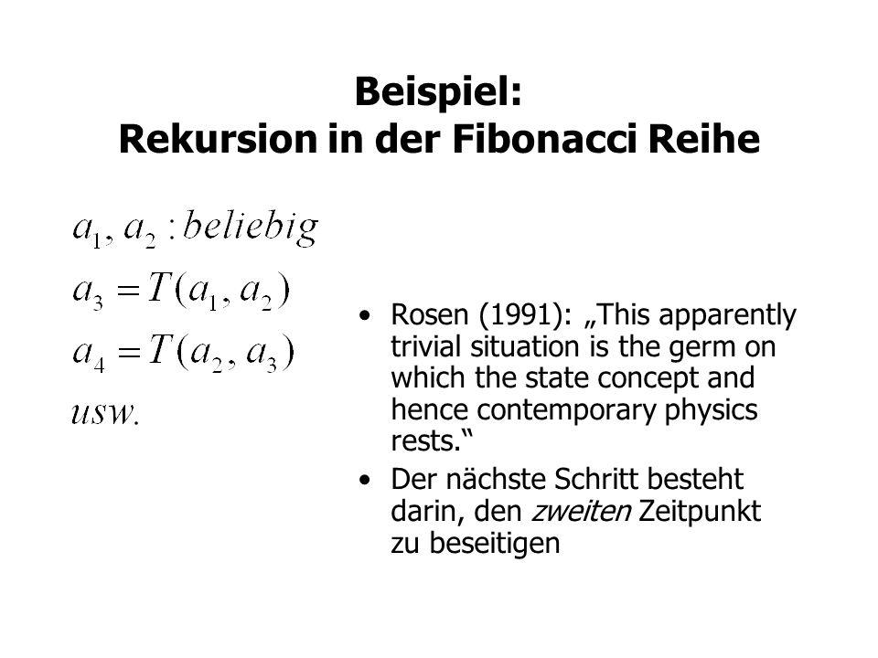 Beispiel: Rekursion in der Fibonacci Reihe