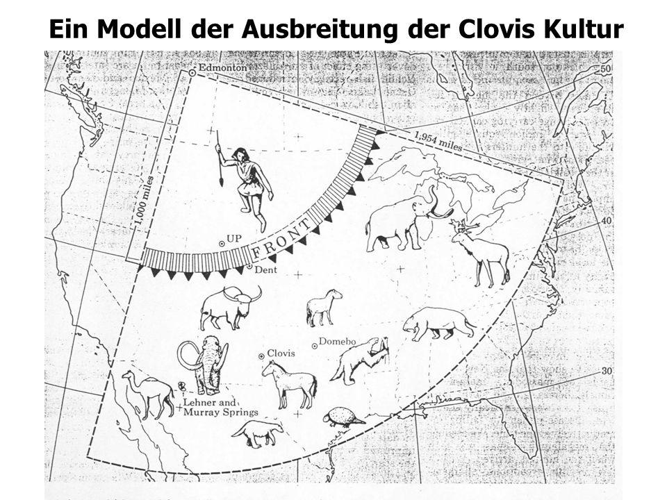 Ein Modell der Ausbreitung der Clovis Kultur
