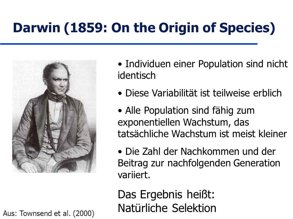 Darwin (1859: On the Origin of Species)