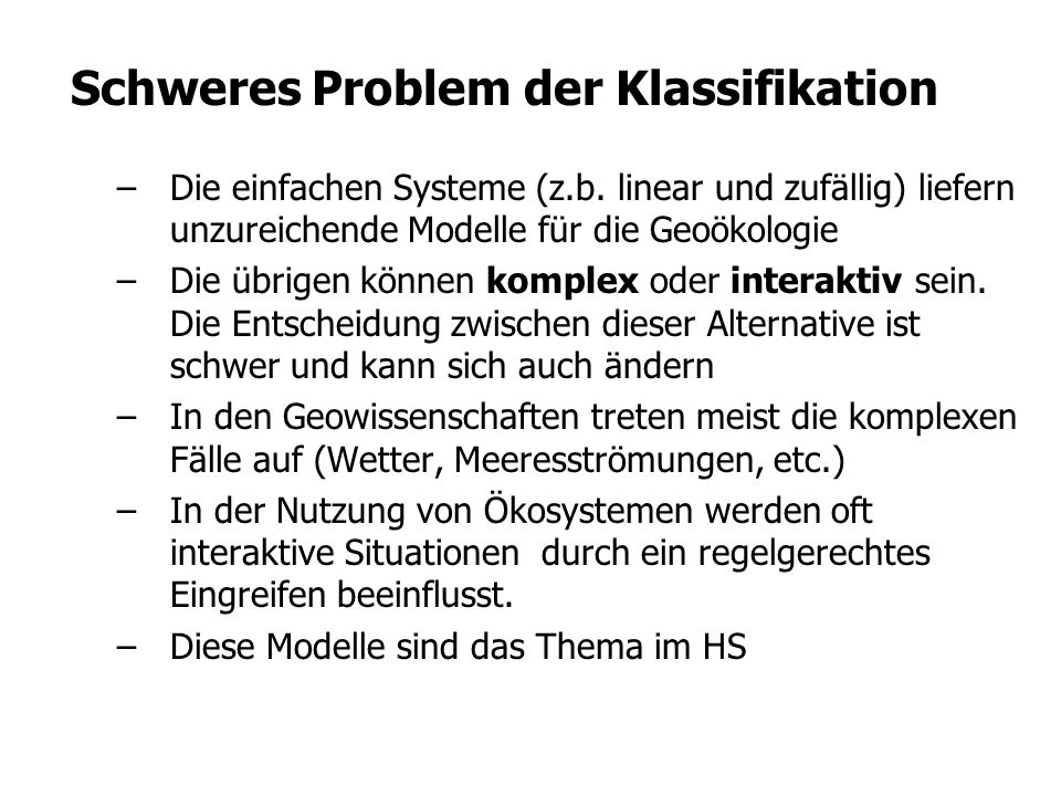Schweres Problem der Klassifikation