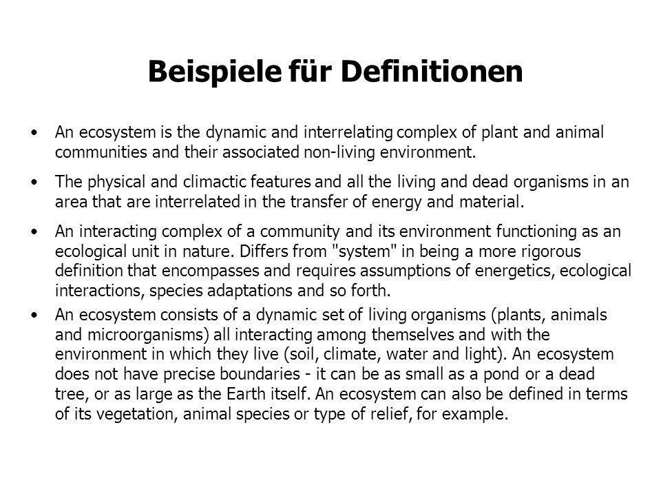 Beispiele für Definitionen