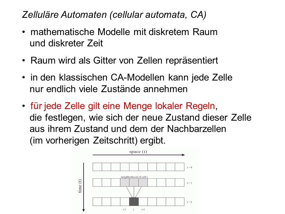 Zelluläre Automaten (cellular automata, CA)