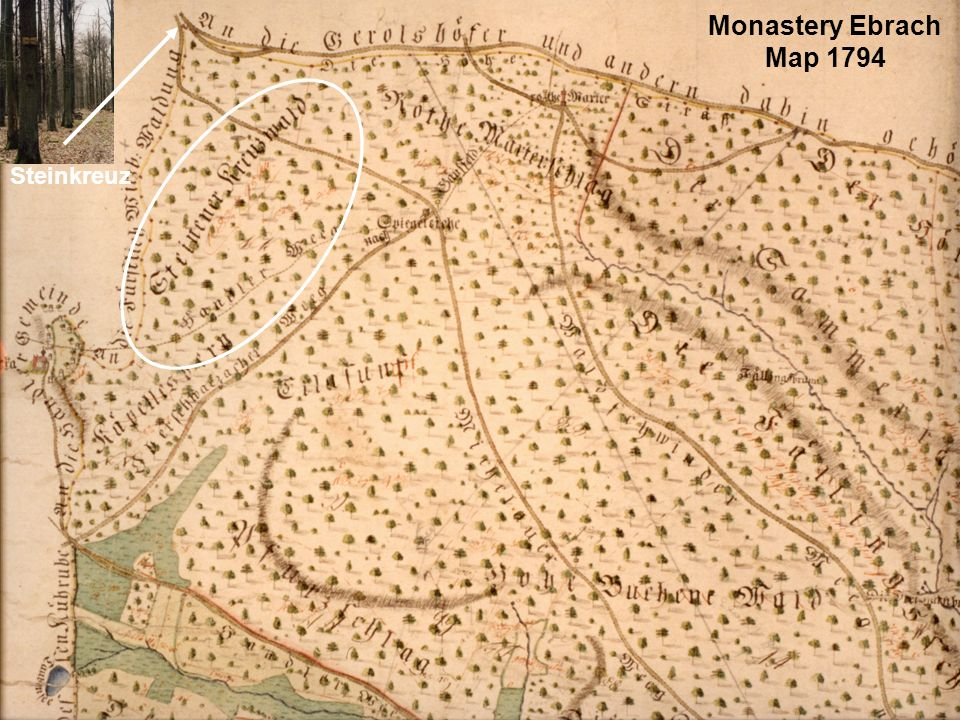Monastery Ebrach Map 1794 Steinkreuz