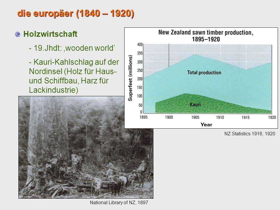 die europäer (1840 – 1920) Holzwirtschaft 19.Jhdt: 'wooden world'