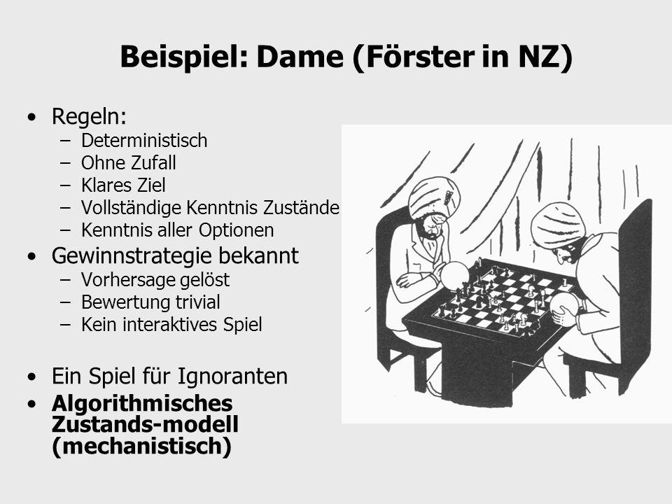 Beispiel: Dame (Förster in NZ)