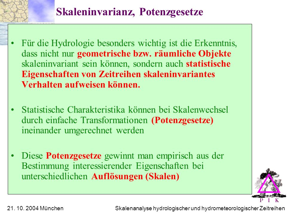 Skaleninvarianz, Potenzgesetze