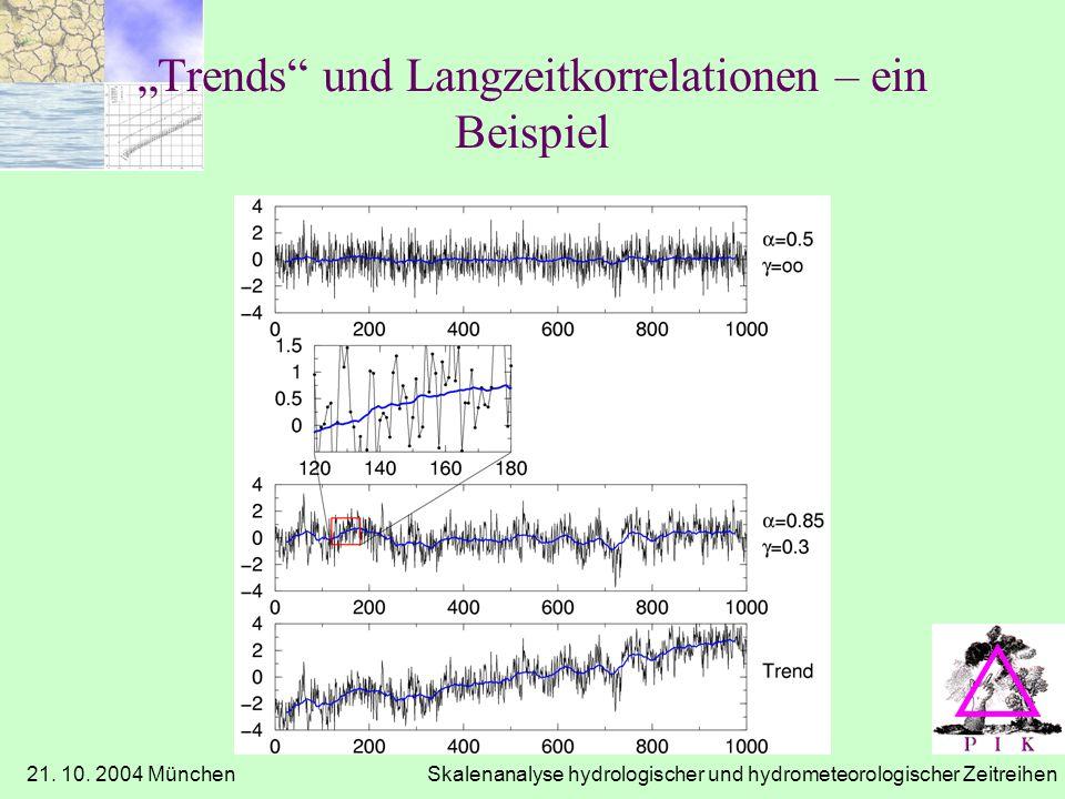 """""""Trends und Langzeitkorrelationen – ein Beispiel"""