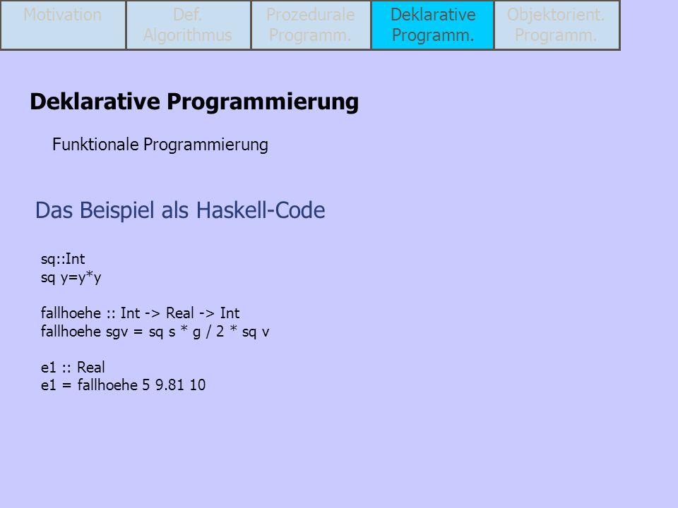 Das Beispiel als Haskell-Code