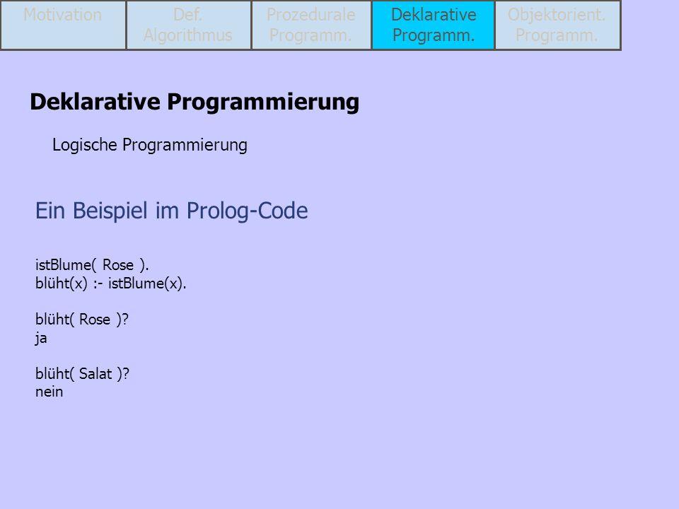 Ein Beispiel im Prolog-Code