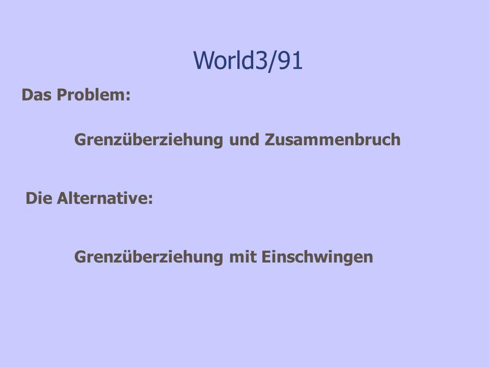 World3/91 Das Problem: Grenzüberziehung und Zusammenbruch
