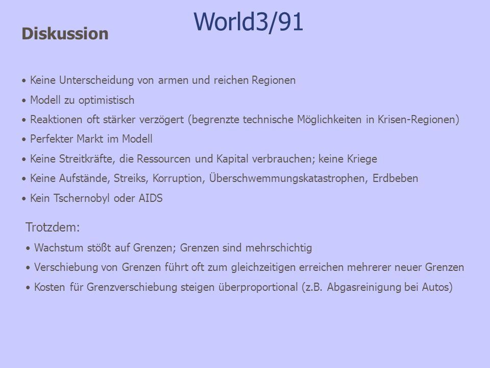 World3/91 Diskussion Trotzdem: