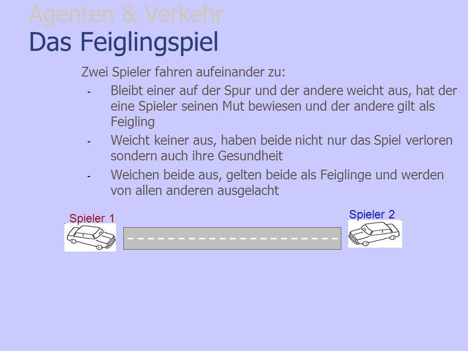 Das Feiglingspiel Agenten & Verkehr
