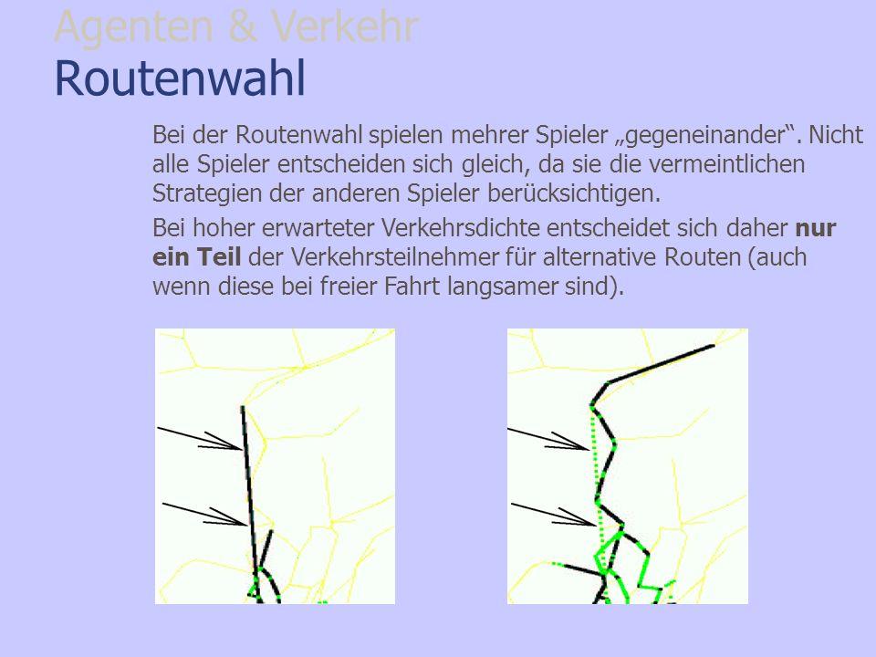 Routenwahl Agenten & Verkehr