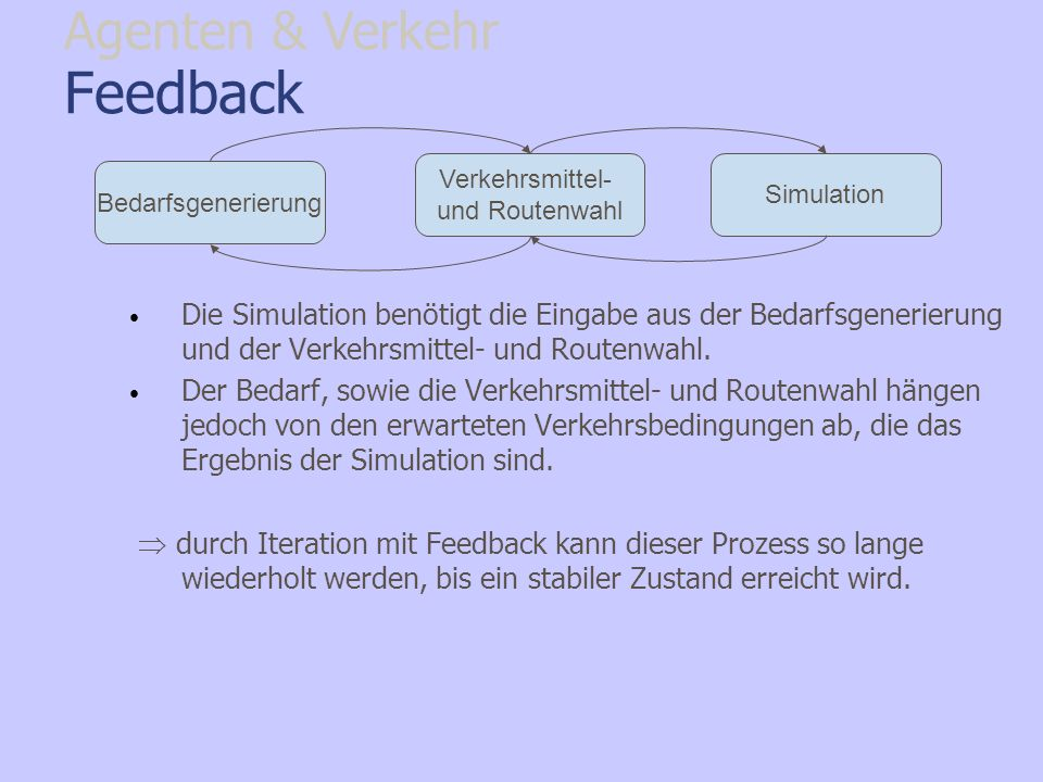 Feedback Agenten & Verkehr