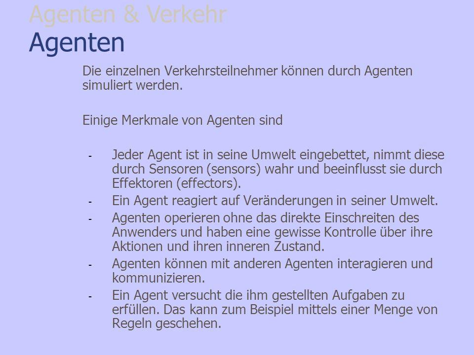 Agenten Agenten & Verkehr